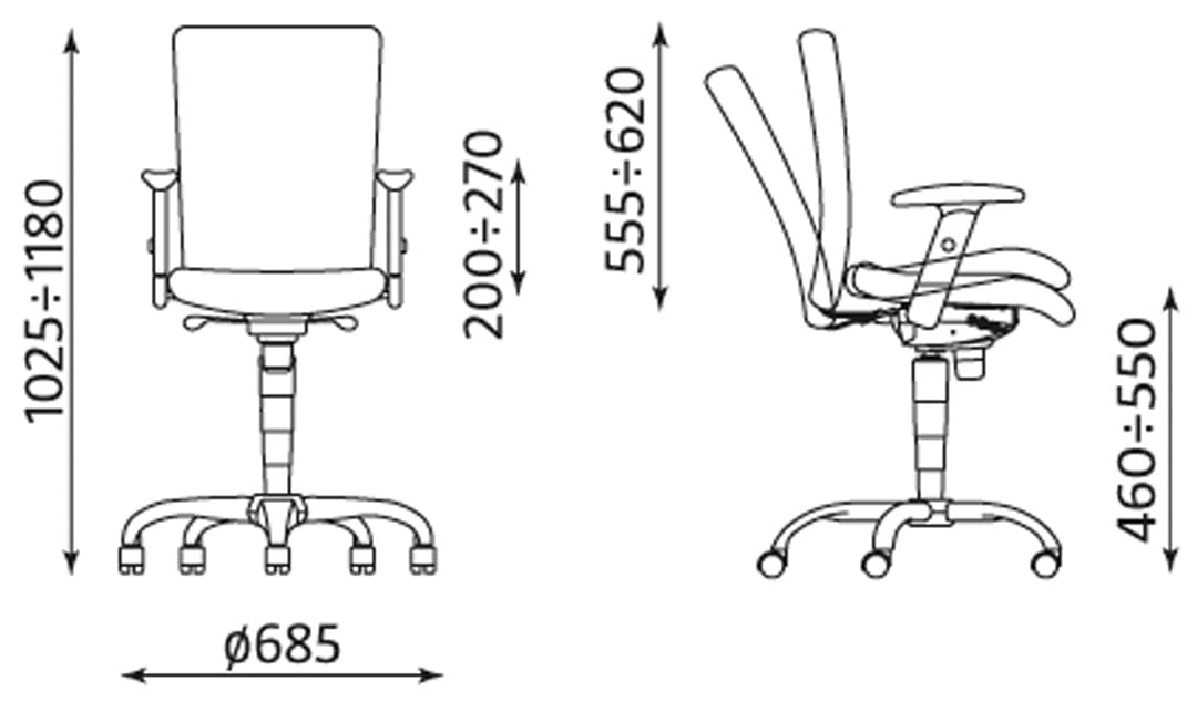 Krzesło obrotowe BOLERO II